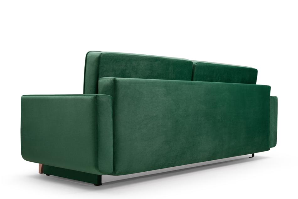 GUSTINA Skandynawska sofa 3 osobowa z funkcją spania zielona ciemny zielony - zdjęcie 4