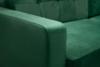 GUSTINA Skandynawska sofa 3 osobowa z funkcją spania zielona ciemny zielony - zdjęcie 6