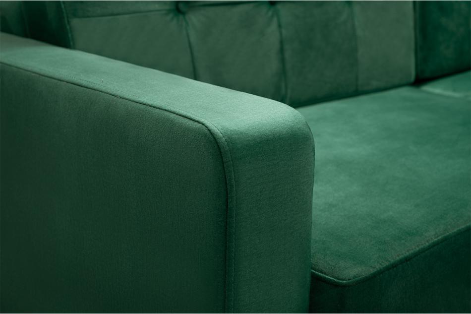 GUSTINA Skandynawska sofa 3 osobowa z funkcją spania zielona ciemny zielony - zdjęcie 5