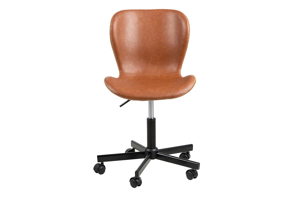 Krzesło obrotowe brązowe