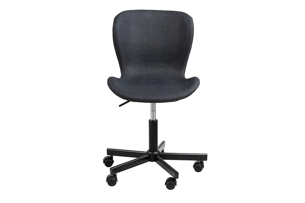 Krzesło obrotowe tapicerowane czarne