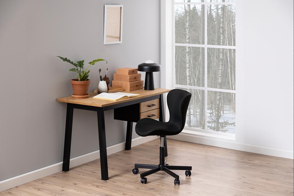 ROTIO Krzesło obrotowe tapicerowane czarne antracytowy - zdjęcie 1