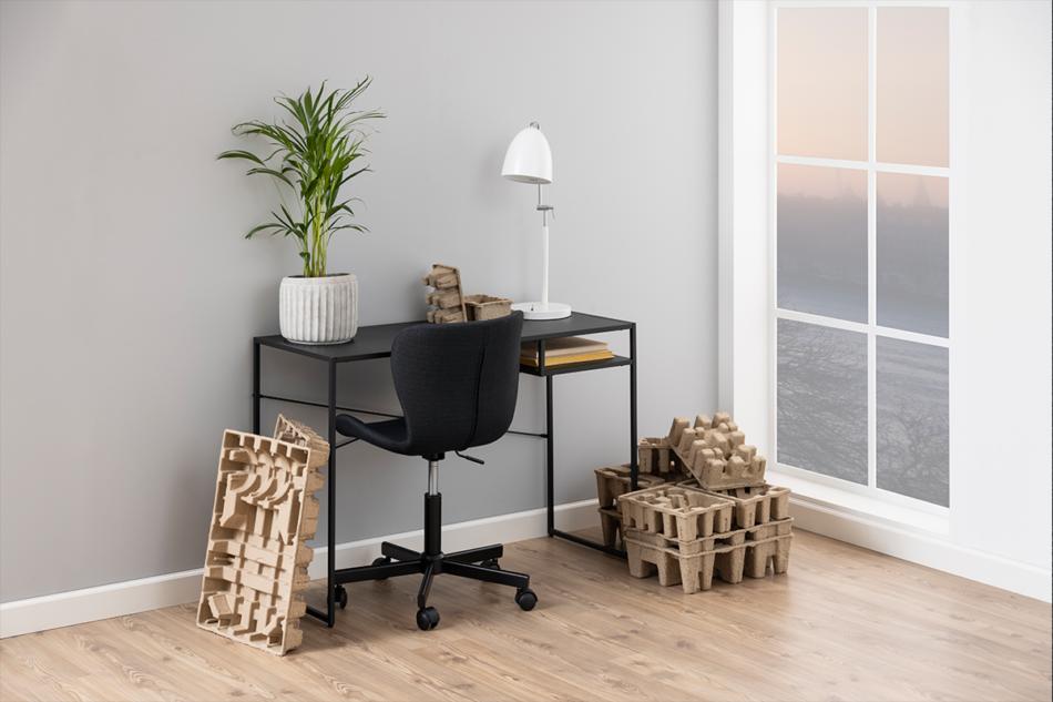 ROTIO Krzesło obrotowe tapicerowane czarne antracytowy - zdjęcie 7