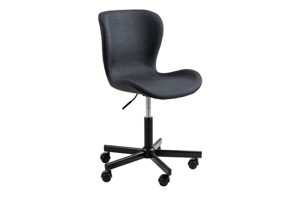ROTIO Krzesło obrotowe tapicerowane czarne antracytowy - zdjęcie 2