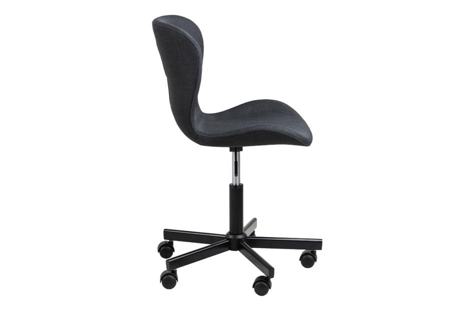 ROTIO Krzesło obrotowe tapicerowane czarne antracytowy - zdjęcie 5