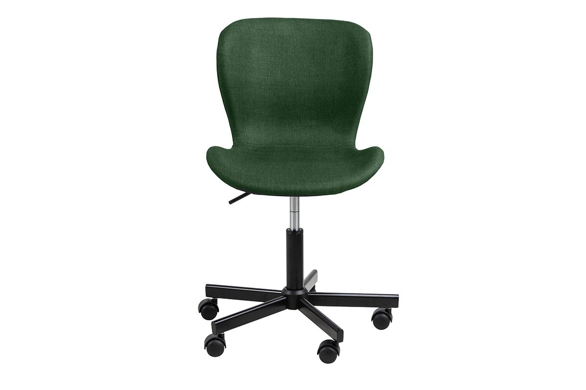 Krzesło obrotowe tapicerowane zielone