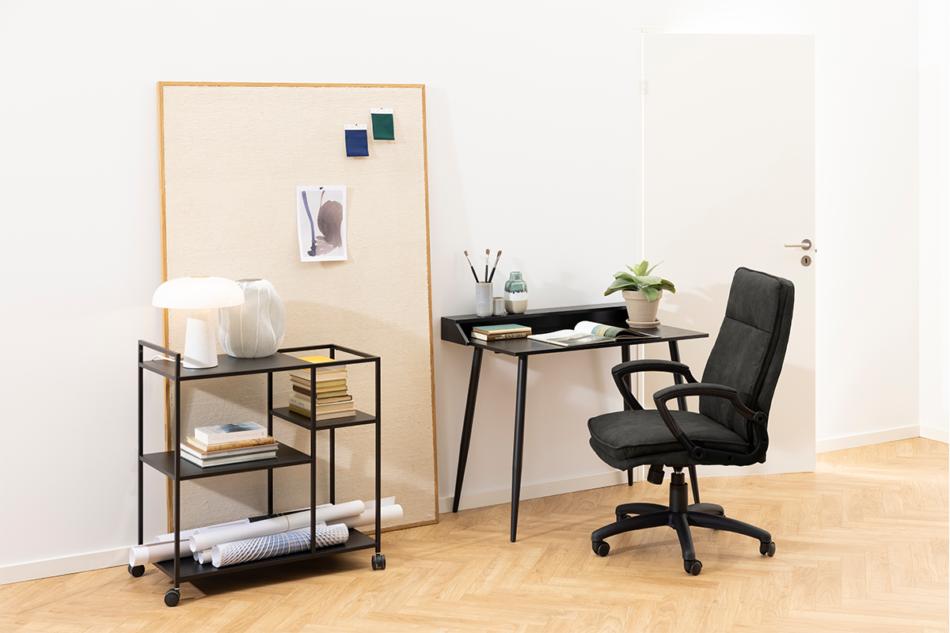 VILO Fotel obrotowy do biurka szary antracytowy - zdjęcie 1