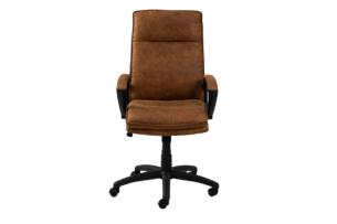 VILO, https://konsimo.pl/kolekcja/vilo/ Fotel obrotowy do biurka brązowy brązowy - zdjęcie