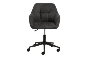 NERDU, https://konsimo.pl/kolekcja/nerdu/ Krzesło kubełkowe obrotowe welurowe antracytowe antracytowy - zdjęcie