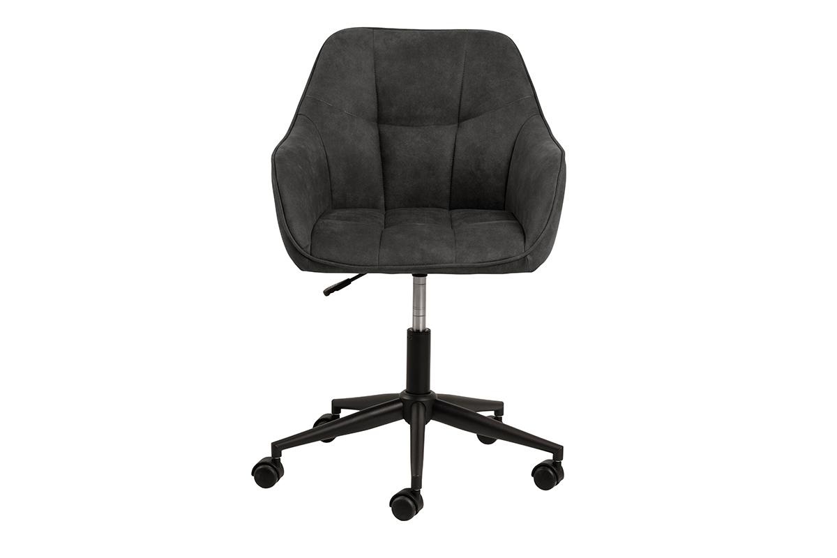 Krzesło kubełkowe obrotowe welurowe antracytowe