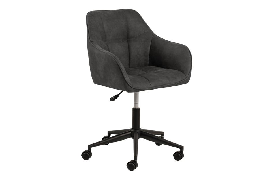 NERDU Krzesło kubełkowe obrotowe welurowe antracytowe antracytowy - zdjęcie 1