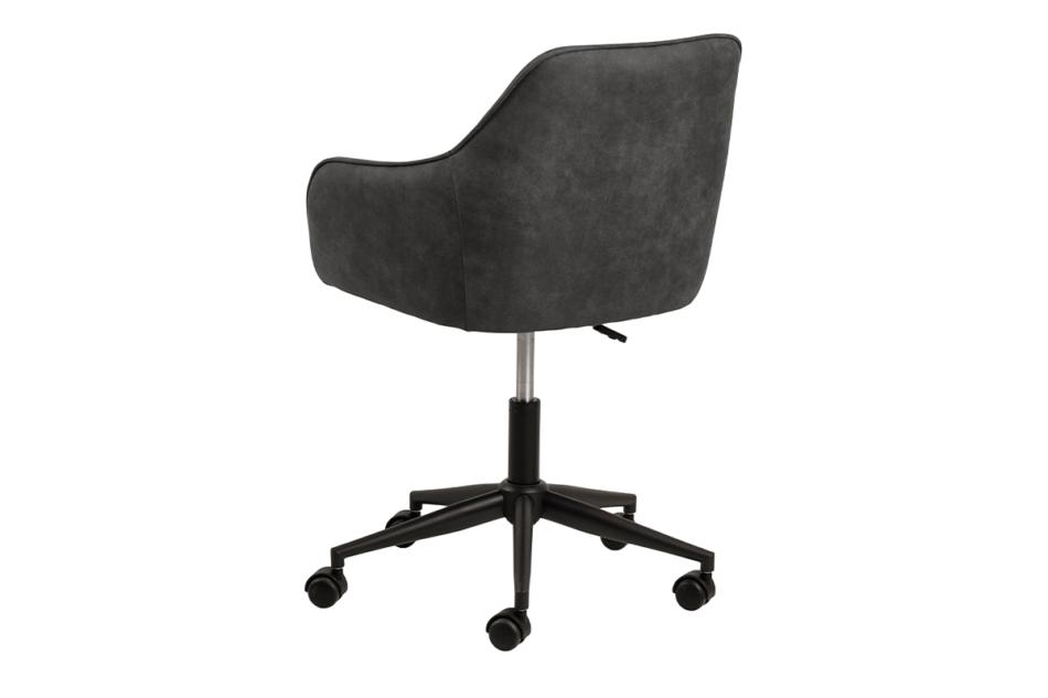 NERDU Krzesło kubełkowe obrotowe welurowe antracytowe antracytowy - zdjęcie 2