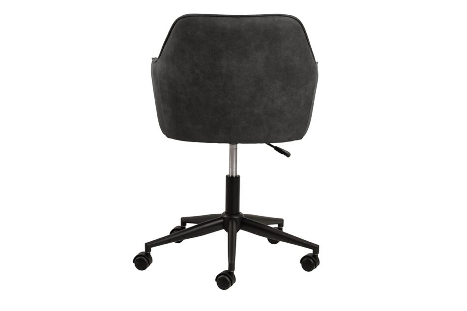 NERDU Krzesło kubełkowe obrotowe welurowe antracytowe antracytowy - zdjęcie 3