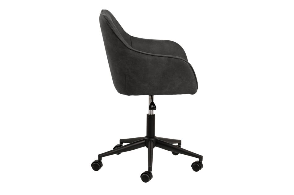 NERDU Krzesło kubełkowe obrotowe welurowe antracytowe antracytowy - zdjęcie 4
