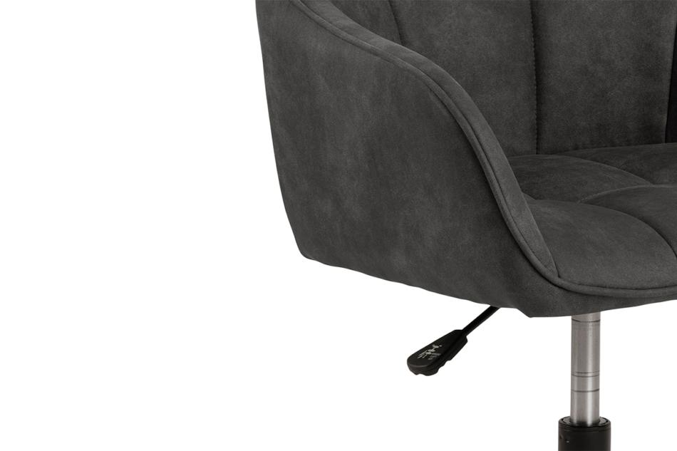 NERDU Krzesło kubełkowe obrotowe welurowe antracytowe antracytowy - zdjęcie 5