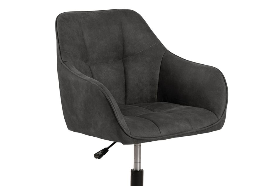 NERDU Krzesło kubełkowe obrotowe welurowe antracytowe antracytowy - zdjęcie 6