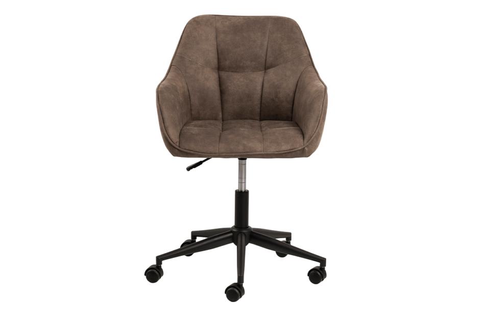 NERDU Krzesło kubełkowe obrotowe welurowe brązowe jasny brązowy - zdjęcie 0