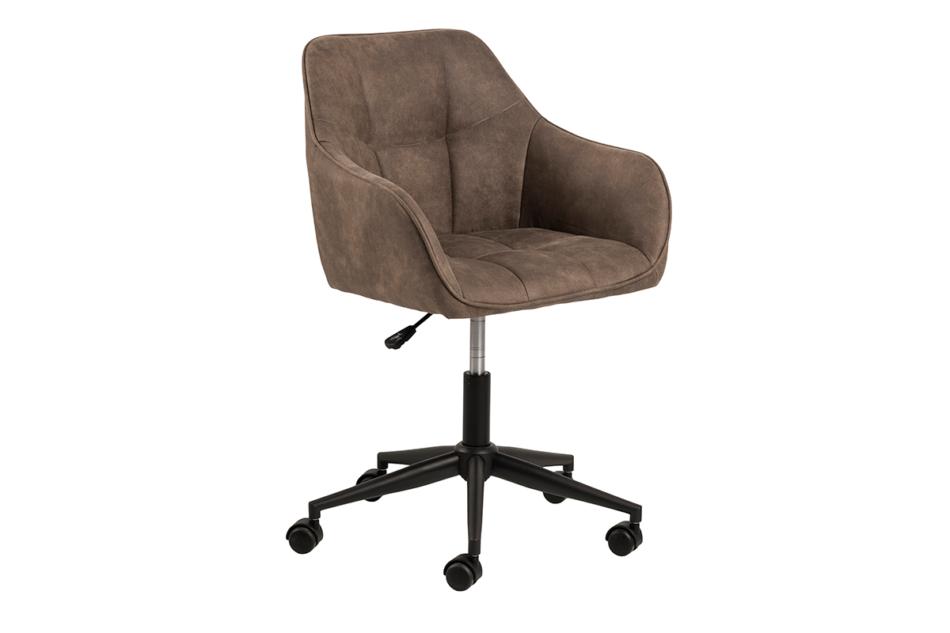 NERDU Krzesło kubełkowe obrotowe welurowe brązowe jasny brązowy - zdjęcie 1