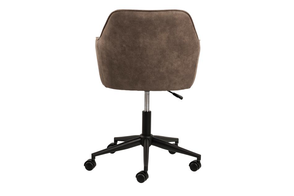 NERDU Krzesło kubełkowe obrotowe welurowe brązowe jasny brązowy - zdjęcie 2