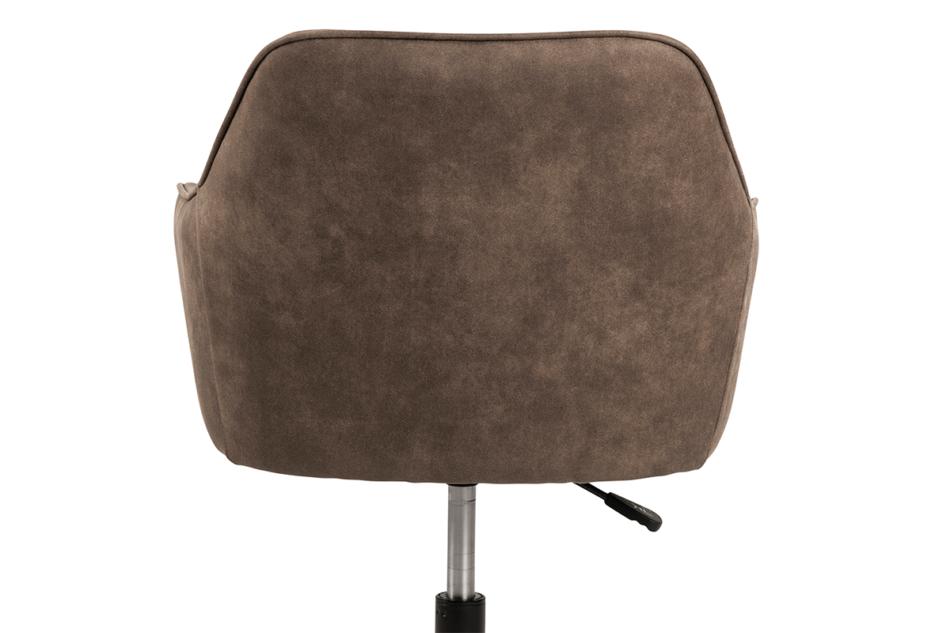 NERDU Krzesło kubełkowe obrotowe welurowe brązowe jasny brązowy - zdjęcie 4