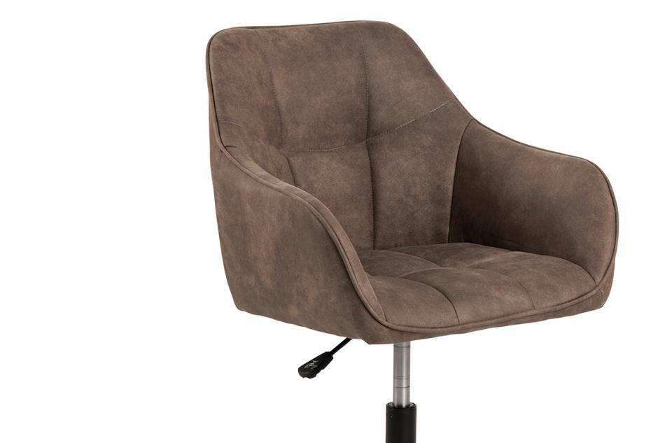NERDU Krzesło kubełkowe obrotowe welurowe brązowe jasny brązowy - zdjęcie 5