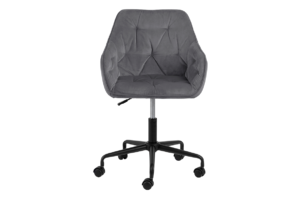 VERTIO, https://konsimo.pl/kolekcja/vertio/ Krzesło kubełkowe obrotowe welurowe ciemno szary szary - zdjęcie