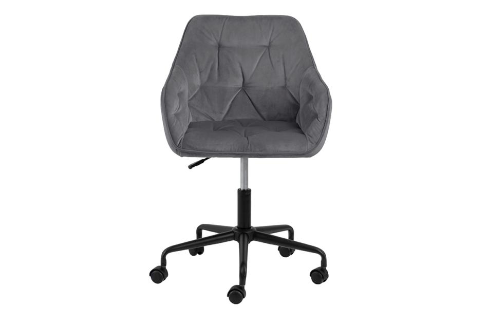 VERTIO Krzesło kubełkowe obrotowe welurowe ciemno szary szary - zdjęcie 0