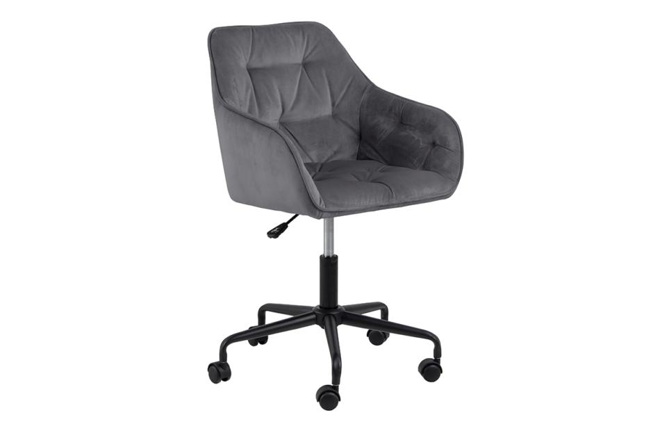 VERTIO Krzesło kubełkowe obrotowe welurowe ciemno szary szary - zdjęcie 2