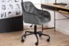 VERTIO Krzesło kubełkowe obrotowe welurowe ciemno szary szary - zdjęcie 10