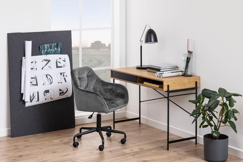 VERTIO Krzesło kubełkowe obrotowe welurowe ciemno szary szary - zdjęcie 1