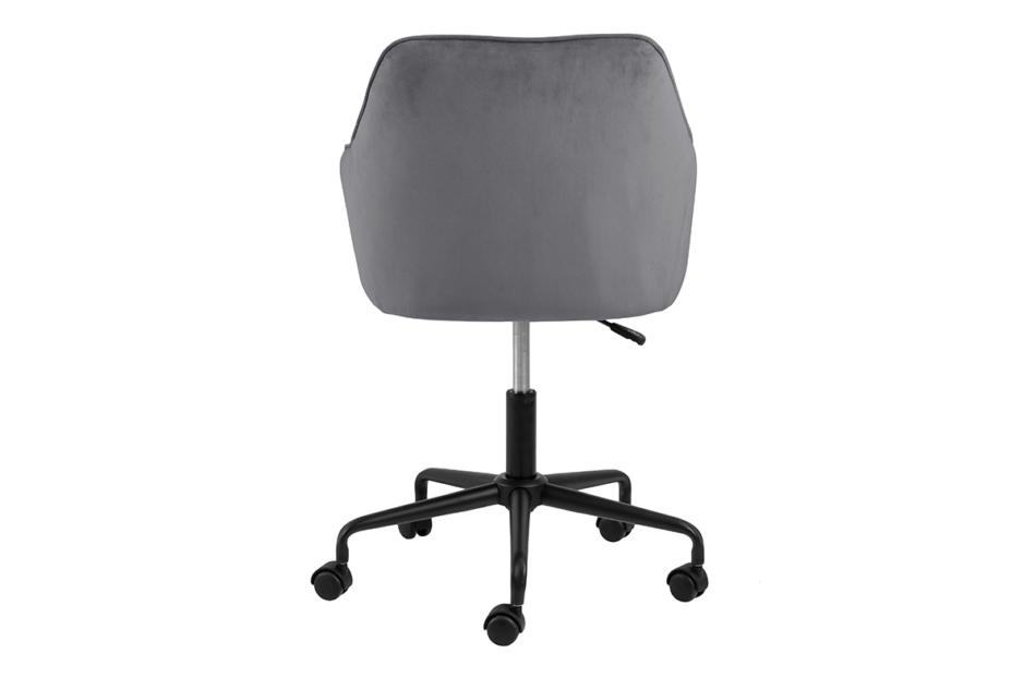 VERTIO Krzesło kubełkowe obrotowe welurowe ciemno szary szary - zdjęcie 3
