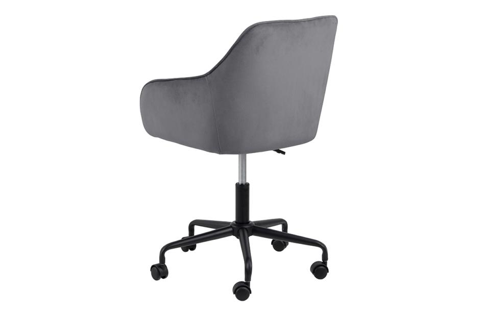 VERTIO Krzesło kubełkowe obrotowe welurowe ciemno szary szary - zdjęcie 4