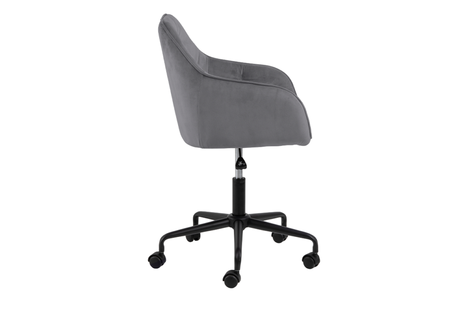 VERTIO Krzesło kubełkowe obrotowe welurowe ciemno szary szary - zdjęcie 5