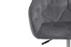 VERTIO Krzesło kubełkowe obrotowe welurowe ciemno szary szary - zdjęcie 7