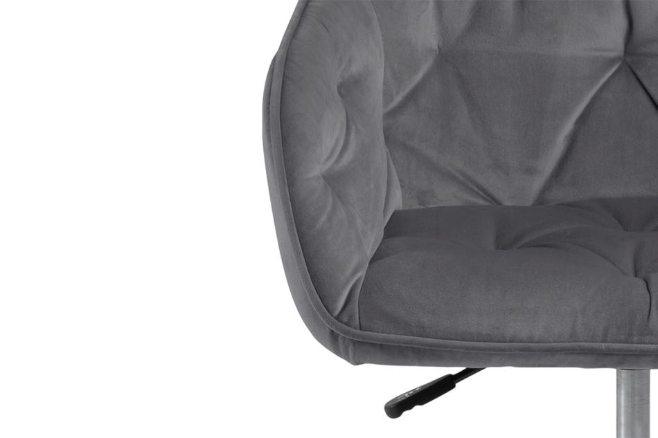 VERTIO Krzesło kubełkowe obrotowe welurowe ciemno szary szary - zdjęcie 6