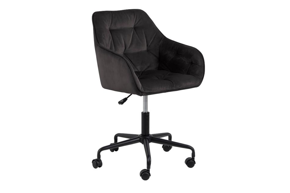 VERTIO Krzesło kubełkowe obrotowe welurowe ciemno szary grafitowy - zdjęcie 1