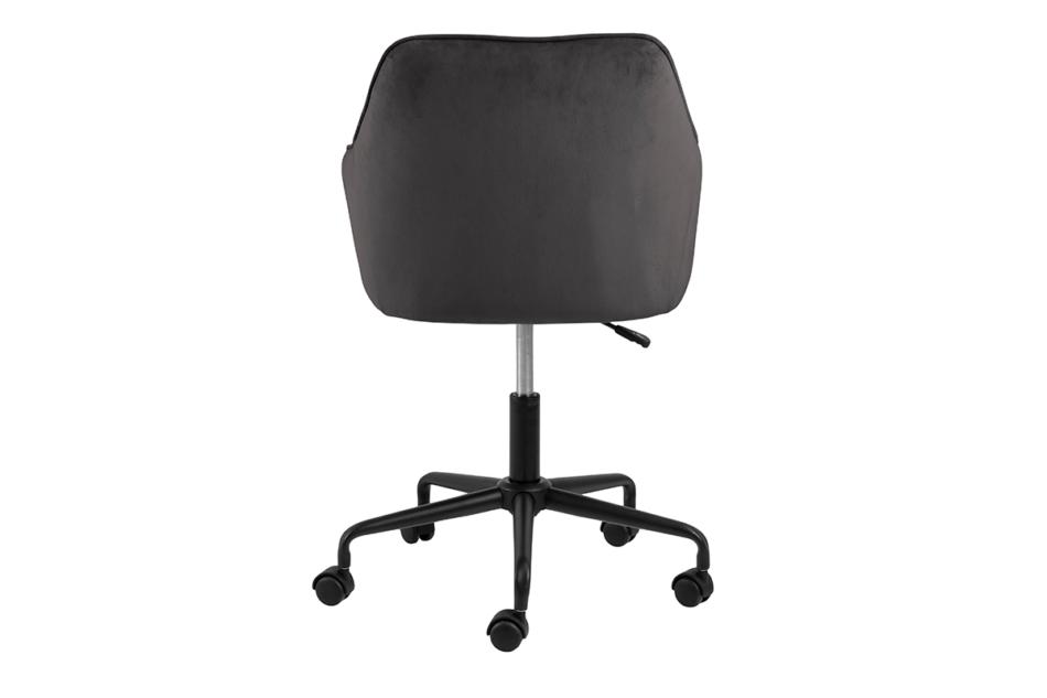 VERTIO Krzesło kubełkowe obrotowe welurowe ciemno szary grafitowy - zdjęcie 2