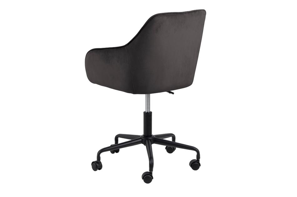 VERTIO Krzesło kubełkowe obrotowe welurowe ciemno szary grafitowy - zdjęcie 3