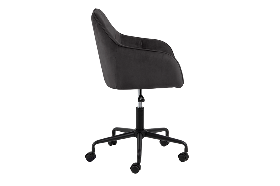 VERTIO Krzesło kubełkowe obrotowe welurowe ciemno szary grafitowy - zdjęcie 4