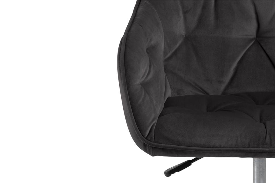 VERTIO Krzesło kubełkowe obrotowe welurowe ciemno szary grafitowy - zdjęcie 6