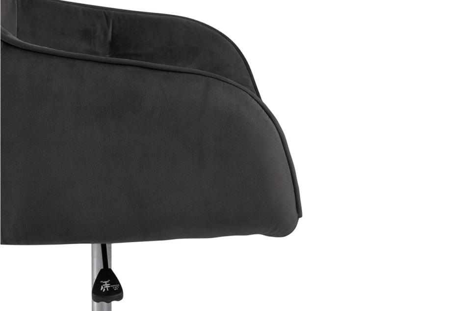 VERTIO Krzesło kubełkowe obrotowe welurowe ciemno szary grafitowy - zdjęcie 7