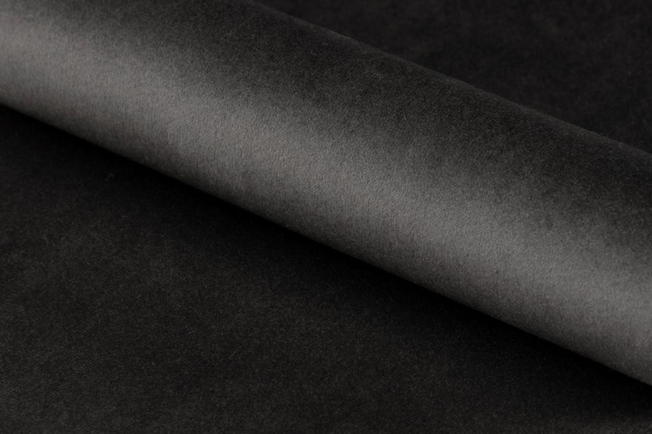 VERTIO Krzesło kubełkowe obrotowe welurowe ciemno szary grafitowy - zdjęcie 8