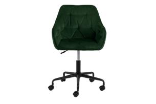 VERTIO, https://konsimo.pl/kolekcja/vertio/ Krzesło kubełkowe obrotowe welurowe butelkowa zieleń ciemny zielony - zdjęcie