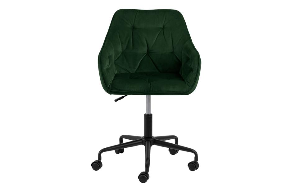 VERTIO Krzesło kubełkowe obrotowe welurowe butelkowa zieleń ciemny zielony - zdjęcie 0