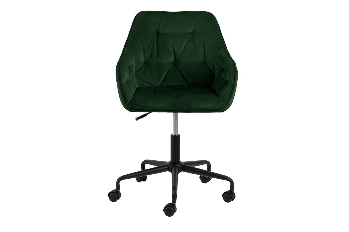 Krzesło kubełkowe obrotowe welurowe butelkowa zieleń