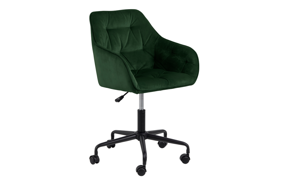 VERTIO Krzesło kubełkowe obrotowe welurowe butelkowa zieleń ciemny zielony - zdjęcie 2