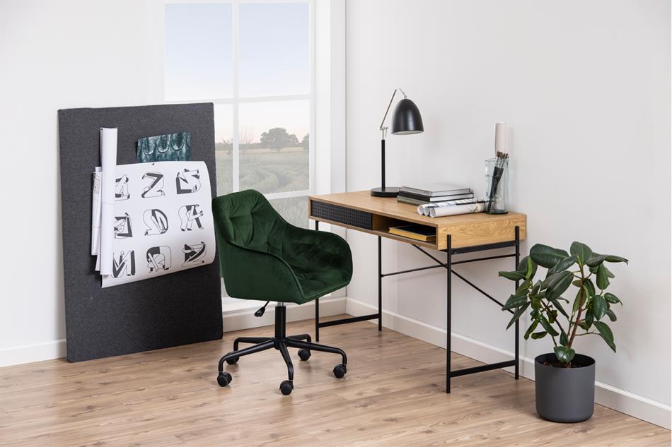 VERTIO Krzesło kubełkowe obrotowe welurowe butelkowa zieleń ciemny zielony - zdjęcie 1