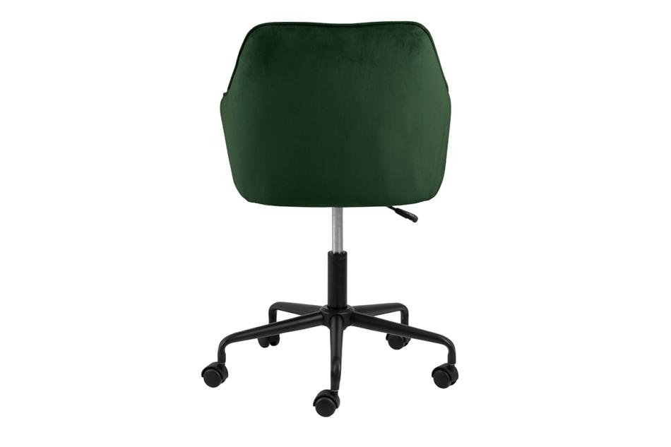 VERTIO Krzesło kubełkowe obrotowe welurowe butelkowa zieleń ciemny zielony - zdjęcie 3