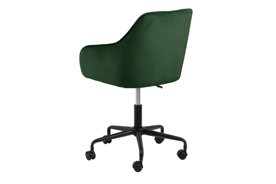 VERTIO Krzesło kubełkowe obrotowe welurowe butelkowa zieleń ciemny zielony - zdjęcie 4
