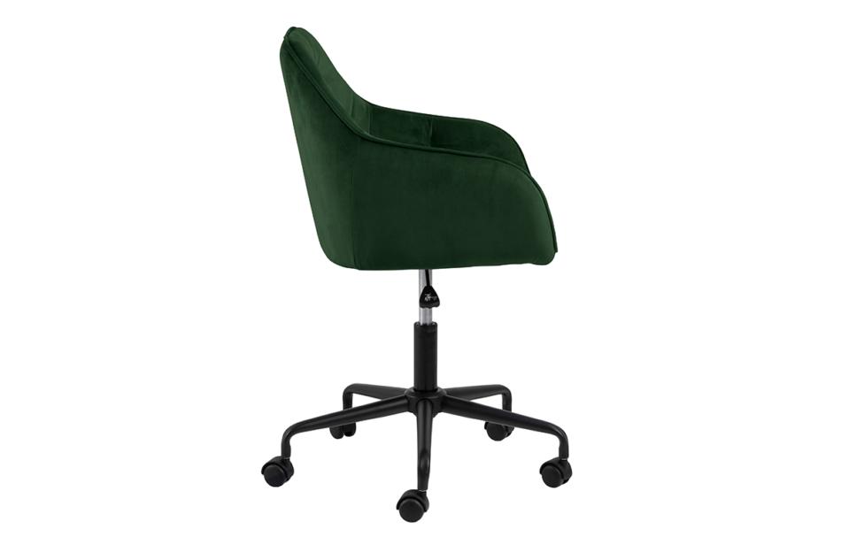 VERTIO Krzesło kubełkowe obrotowe welurowe butelkowa zieleń ciemny zielony - zdjęcie 5
